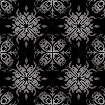 3313511-Gothic-style-black-and-white-seamless-Illustrated-wallpaper-Stock-Vector