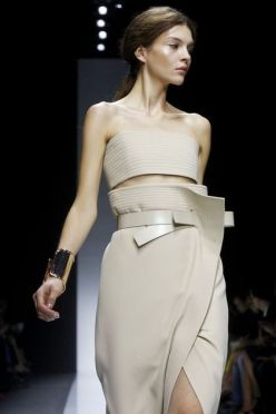 Gianfranco Ferre, fashion show ready to wear, collection spring summer 2014 in Milan.