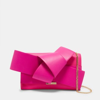 ASTERR Giant knot bow clutch bag